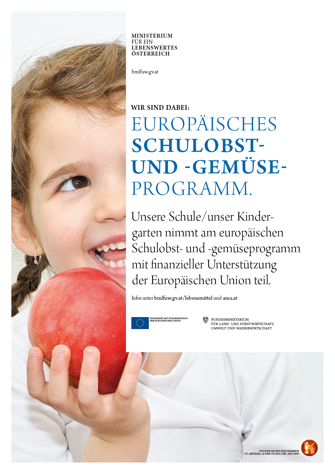 Poster der Schulobstaktion